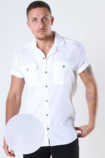 Andrew Waffle Hemd S/S White