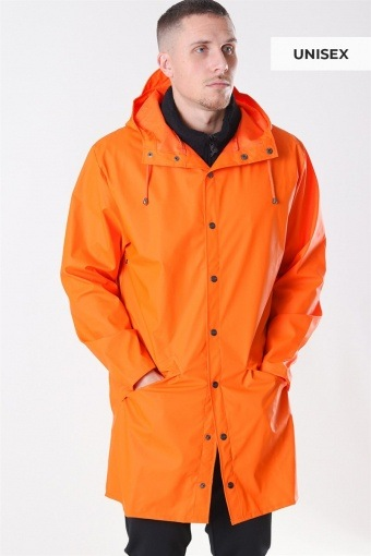 Long RegnJacke Fire Orange