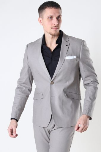 Cotton Linen Blazer Grey