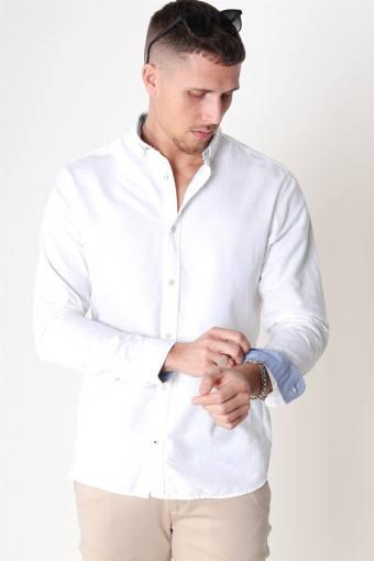 Summer Hemd L/S White