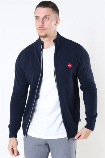 Liam Zip Stricken Recycle Navy