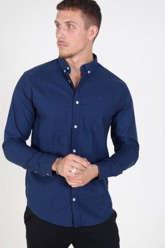 Johan Oxford Washed Hemd Blue