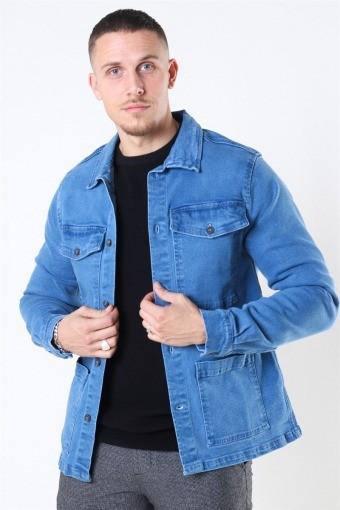 Denim Over Jacke Medium Blue