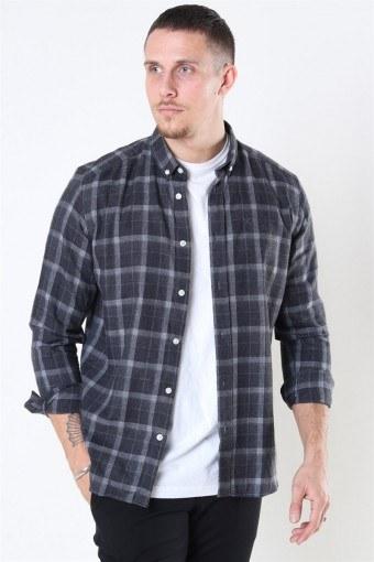Clean Cut Sälen Flannel 3 Hemd Antrasit