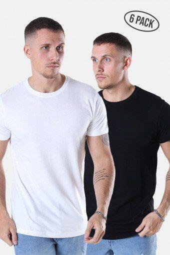 Cam T-shirt 6-Pack Black/White