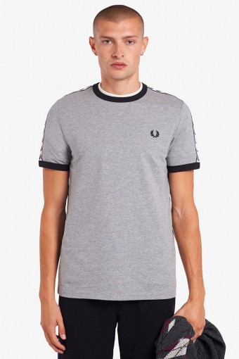 TAPED RINGER T-SHIRT 291 Steel Marl