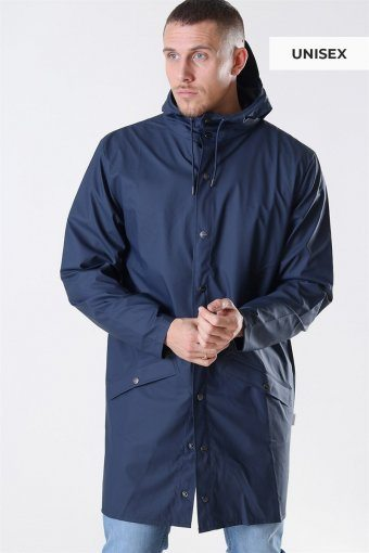 Long RegnJacke Blue