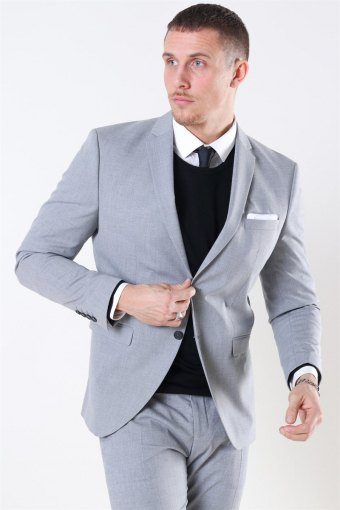 Slim-Mylo Logan Blazer Light Grey Melange