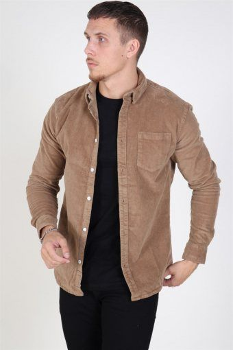 Johan CordUhroy Overshirt Brown