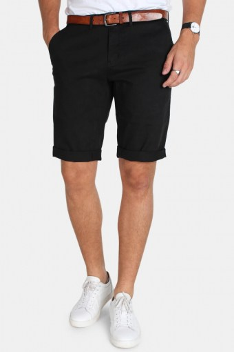 Jonas Stretch Shorts Stone Black
