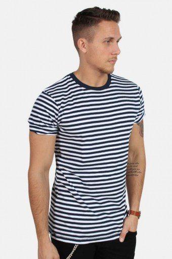 T-shirt Striped Navy/White