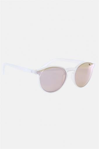 Fashion 1384 Sonnenbrille Matt Transparent Clear Lens w/Blue Mirror