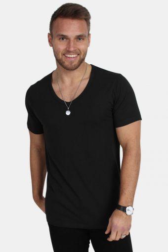 Basic V-Neck T-shirt S/S Black