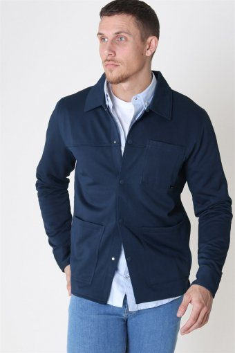 Cohen Sweat Trucker Jacke Blueberry