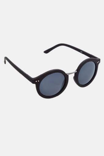 Fashion 1517 Rund Sonnenbrille Black Rubber/Gun Dark Grey Glass