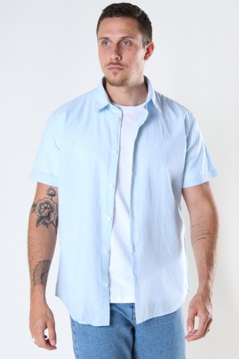 SLHREGNEW-LINEN Hemd SS CLASSIC W Skyway