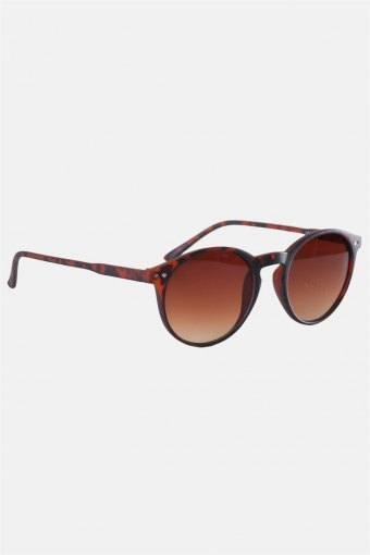 Fashion 1379 Panto Brown Havana Rubber Sonnenbrille Brown Gradient