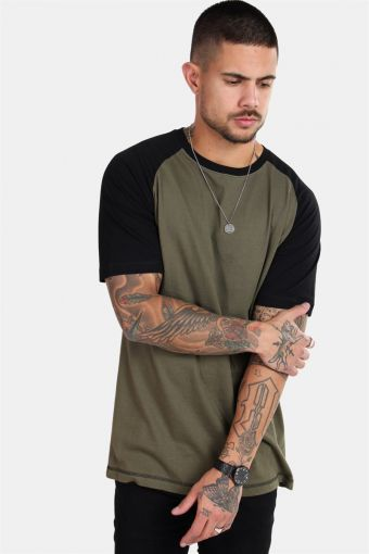Raglan T-shirt New Army/Black