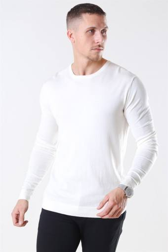 Tailored & Originals Mont Stricken O-Neck Milky White