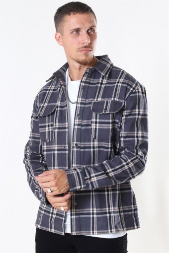 Check Overshirt Grey