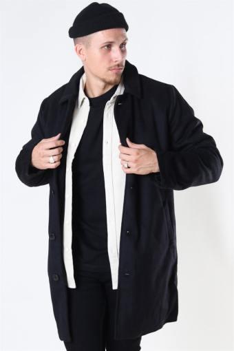 Uldfrakke Black