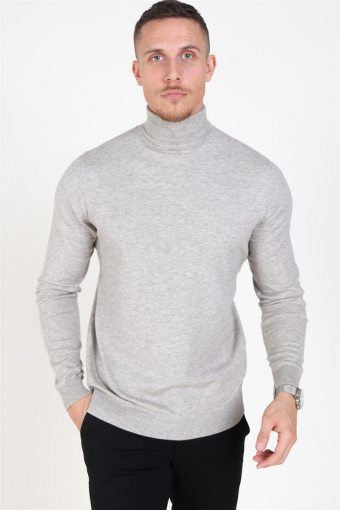 Mikkel 12 Turtleneck Strik Light Grey Melange