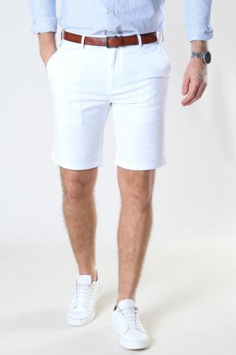 Milano Drake Stretch Shorts White