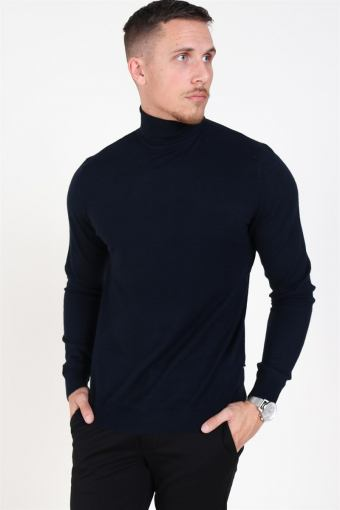 Mikkel 12 Turtleneck Strik Dark Navy