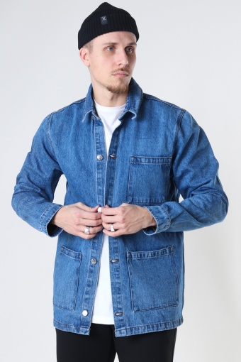 Organic Chino Denim Jacket 129 LIGHT WASH