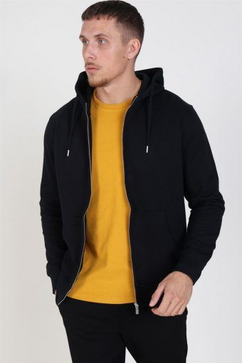 Organic Morgan Zip Sweatshirts Black