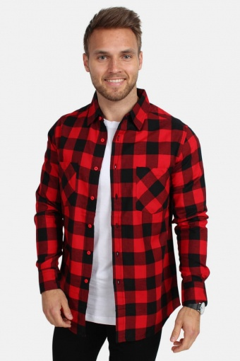 Uhrban Classics Tb297 Skjorte Red/Black