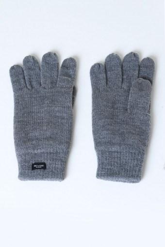 Clas Fingerforet Strickenhandske Medium Grey Melange