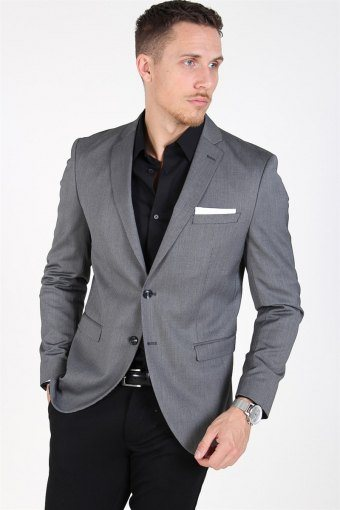 Slim-MyloLogan Blazer Dark Grey StructUhre