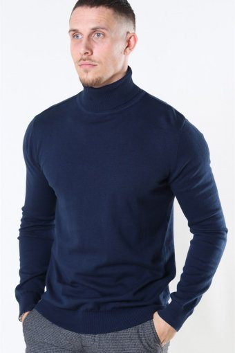 Rollneck Stricken Dark Navy
