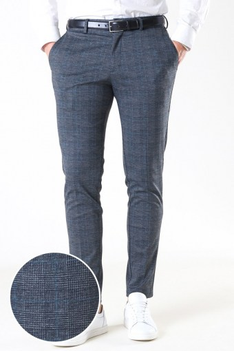 Marco Phil Jersey Nor Check Pants Dark Grey