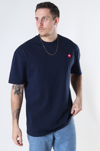 Martin Recycled cotton boxfit t-shirt Navy