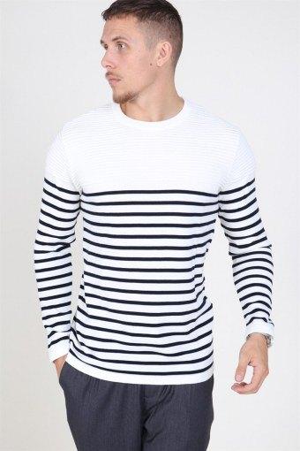 Link Stripe Stricken Off White/navy