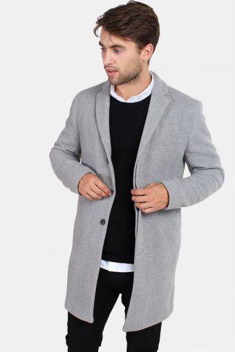 Brove Uld Frakke Medium Grey