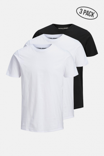 JJEORGANIC BASIC TEE SS O-NECK 3PK MP 2 white 1 black