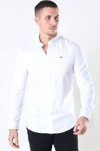 Tommy Jeans Slim Stretch Oxford Hemd White