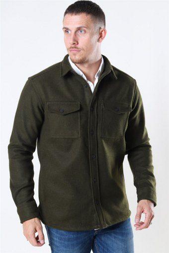 Kurt Wool Overshirt Army