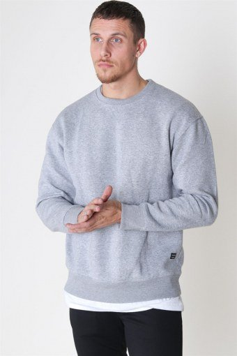Soft Sweat Crew Neck Light Grey Melange