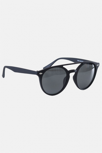Fashion 1388 Mat Black Sonnenbrille Grey Linse