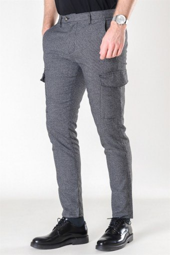 Tailored & Originals Oisin Cargo Pants Medium Grey Melange