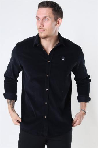 Clean Cut CordUhroy Shirt LS Black