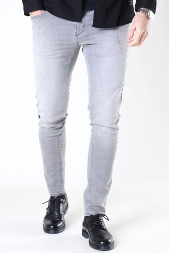 Clean Cut David Slim Stretch Jeans Light Grey Denim