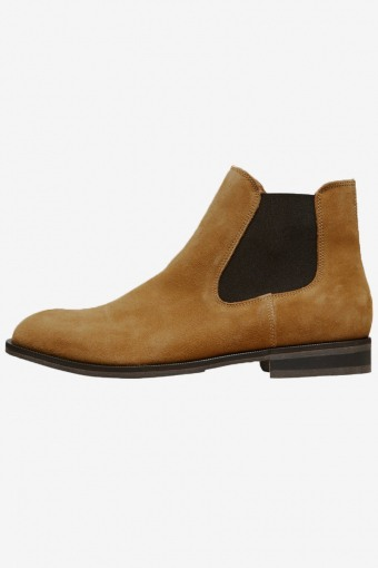 Louis Suede Chelsea Boots Cognac