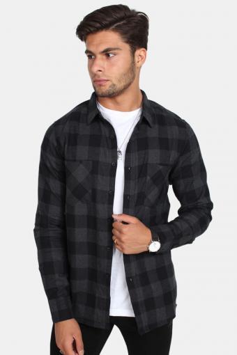 Uhrban Classics Tb297 Skjorte Black/Charcoal