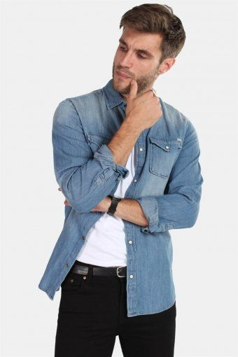 Sheridan Hemd Medium Blue Denim