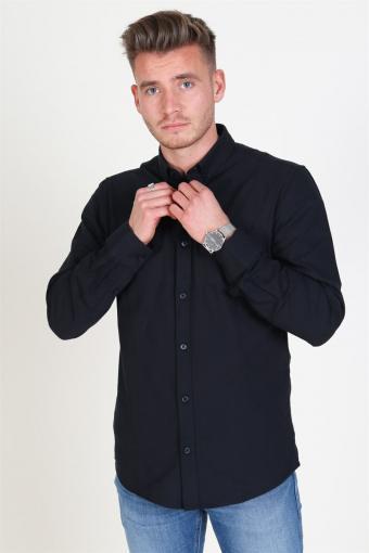 Alvaro LS Oxford Hemd Black